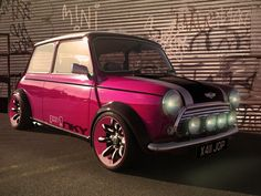 a chop from one of my favourite cars. a mini! something that i modded from a photo of mine tell me what you think please :-D classic mini --little pinky-- Mini Cooper Classic, Classic Mini, Classic Cars, Audi Tt, Ford Gt, Pink Mini Coopers, Renault 5 Gt Turbo, Volvo, Pink Motorcycle