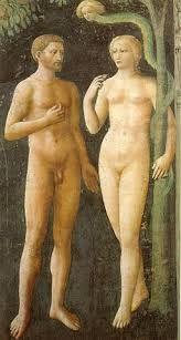 Tentazione di Adamo ed Eva o Peccato originale, affresco di Masolino, 1424- 1425, Chiesa DI Santa Maria del Carmine a Firenze