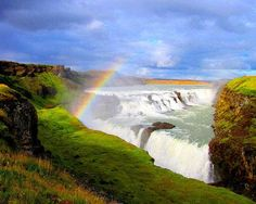 One of the most breathtaking sites in the world, Gullfoss is located in the canyon of the Hvítá river in Iceland.