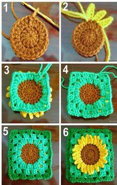 Crochet sunflower. And not beautiful and inspiring? - Crochet Designs Free