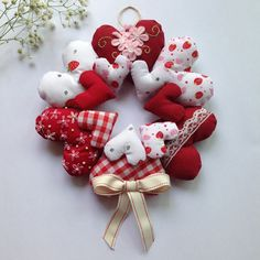 Valentines Shabby Chic Red Hanging Heart #valentines