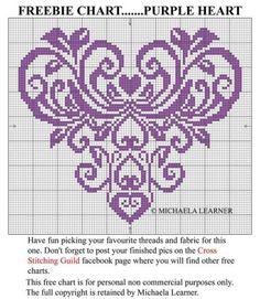 lovely tapestry crochet try? Free Cross Stitch Charts, Just Cross Stitch, Cross Stitch Heart, Embroidery Hearts, Cross Stitch Embroidery, Embroidery Patterns Free, Cross Stitch Designs, Cross Stitch Patterns, Crochet Cross