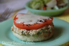 spicy tuna melt on english muffins