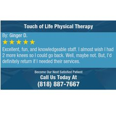 Excellent, fun, and knowledgeable staff.  I almost wish I had 2 more knees so I could go...