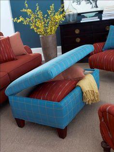 Expand Storage With Multipurpose Furniture : Home Improvement : DIY Network Storage ottoman
