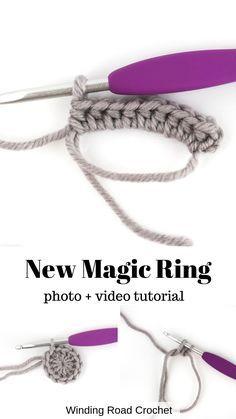 Magic Circle Tutorial: A New Method - Winding Road Crochet - - . Magic Circle Tutorial: A New Method – Winding Road Crochet – – Crochet Simple, Crochet Diy, Crochet Basics, Crochet For Beginners, Crochet Crafts, Crochet Hooks, Crochet Chain Stitch, Crochet Handles, Diy Crochet Projects