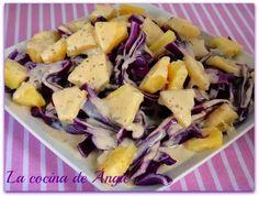 La cocina de Angie: ENSALADA DE LOMBARDA Y PIÑA
