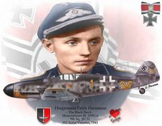 """Erich Alfred Hartmann (19 April 1922 – 20 September 1993), nicknamed """"Bubi"""" by his comrades, and """"The Black Devil"""" by his Soviet adversaries, was a German fighter pilot during World War II. Description from redbubble.com. I searched for this on bing.com/images"""