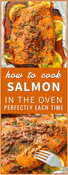 Learn how to cook salmon in the oven perfectly every time using this easy foolproof recipe. in a pan, on the grill, in foil, frozen salmon, baked, pan seared, best, patties, healthy, salad, dinner, honey, blackened Healthy Grilling, Grilling Recipes, Cooking Recipes, Healthy Recipes, Healthy Foods, Healthy Eating, Cooking Games, Cooking Classes, Clean Eating