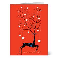 Earle: Red Deer Holiday Cards - The Met Store - Earle: Red Deer Holiday Cards - Holiday Cards - Holiday - The Met Store Winter Holidays, Christmas Holidays, Holiday Cards, Christmas Cards, Santa And Reindeer, Retro Christmas, Color Card, Christmas Inspiration, Red Deer