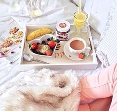 : @itslittlelauren Mojito, Food N, Food And Drink, Sleepover Food, Delicious Desserts, Yummy Food, Brunch, Breakfast In Bed, Romantic Breakfast