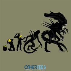 Alien Evolution by Samiel Shirt on sale until 07 April on http://othertees.com #alien