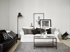 The perfect black, white and grey apartment (via Bloglovin.com )