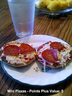 Healthy Mini Pizzas - Weight Watchers Points Plus Value of 5