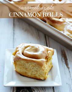 Caramel Apple Cinnamon Rolls. Christmas morning breakfast? #Holidays #WerthersCaramel #Caramel