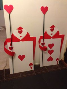 Queens soldiers made from poster boards. Tomato vine stick from 99cents store 2 for a $1.