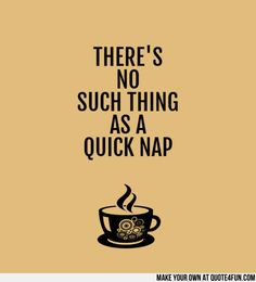 THERE'S NO SUCH THING AS A QUICK NAP Make your own quotes at http://quote4fun.com/?socialref=tudesc