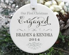 Our First Christmas as Mr & Mrs Wedding Ornament - Personalized Deer Ornament Our First Christmas Ornament, First Christmas Married, 1st Christmas, Christmas Ornaments, Christmas Ideas, Christmas Decorations, Vinyl Ornaments, Christmas Crafts, Ornaments Ideas