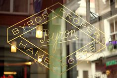 Eye 87 - No logo?! All about how Ben Stott's 'anti-branding' helped turn the Byron restaurant chain into a multi-million pound brand. This photograph is taken in Beak Street, London, 2013.