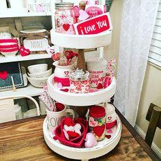 "343 Likes, 39 Comments - Jojo (@raedunnstunna) on Instagram: ""I love decorating a tiered tray ❤️ #raedunn #raedunnvalentinesday #raedunnvalentines #raedunnlove…"""