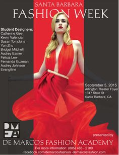 Demarcos Fashion Academy presents Fashion Week Sept. 5 at the Arlington Theater. http://sbseasons.com/2015/08/de-marcos-fashion-academy-announces-1st-annual-sb-fashion-week/ #sbseasons #sb #santabarbara #SBStyle #SBSeasonsMagazine To subscribe visit sbseasons.com/subscribe.html