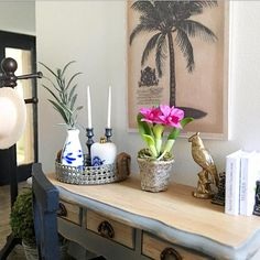 Miniature orchids cerise pink in plant pot Dollhouse