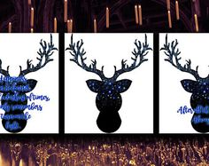 Harry Potter printable quotes  deer, Expecto Patronum, Always, Light.