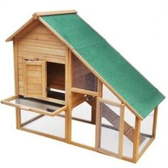 Love the idea of the slide our cleaning panel!! Wooden Rabbit Hutch Animal Cage Xxl Enhanced Model N2 by Serina  £82.95