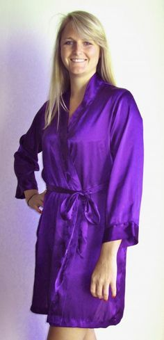 robes ! #satin with rhinestones or embroidery only $28! #www.weddingprepgals.com