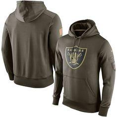 Oakland Raiders Nike Olive Salute To Service KO Performance Hoodie