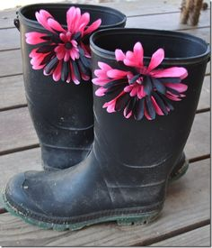 Fabulous Rubber Boots - Country Fest here we come - go our rain gear this year!