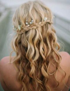 waterfall braids for weddings - Google Search