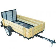 Big Max 4 Ft. x 8 Ft. Wood-Sided Utility Trailer