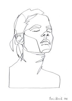 """Gaze 393″, continuous line drawing by Boris Schmitz"