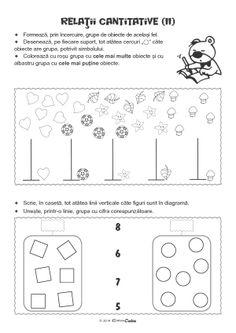 Fise de Lucru - Editura Caba - Carti, caiete de lucru, materiale didactice Preschool Worksheets, Tudor, Montessori, Activities For Kids, Teaching, Math, Projects, Preschool Math, Log Projects