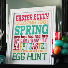 Subway Art Easter Traditions Printable