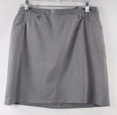 The Limited Stretch Gray Black Houndstooth Mini Casual Career Women's Skirt - 10…