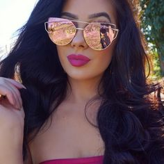 ROSE GOLD MIRRORED CHIC SUNGLASSES NEW ROSE GOLD MIRRORED COLOR CHIC FASHION SUNGLASSES METAL FRAME DOES NOT COME WITH CASE Accessories Glasses