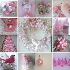 pink christmas- reminds me of my Grandma! How she loved her pink tree.