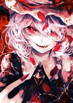 Touhou Project-Remilia Scarlet art,so cool Yandere Anime, Chica Anime Manga, Manga Girl, Gothic Anime, Dark Anime, Anime Style, Anime Kunst, Anime Art, Kawaii Anime