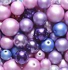 LILAC AND BLUES MIX PRECIOSA GLASS PEARL BEADS