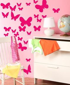 Take a look at this Magenta Fluttering Butterfly Decal Set by Inspire Your Walls on #zulily today!