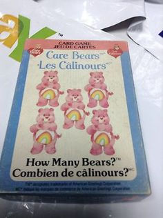 Vintage Care Bears Card Game 1983 How Many Bears? Parker Brothers Calinours                          $8.95