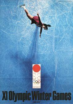 Kamekura, Yusaku 1915 - 1997. Olympic Winter Games - Sapporo. Photo/Offset 1972. Size: 40.9 x 28.7 in. (104 x 73 cm). Printer: Toppan Printing Co..