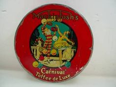 Vintage Mackintosh Deluxe Toffee Tin 30's Art Deco Canadian Tin | eBay
