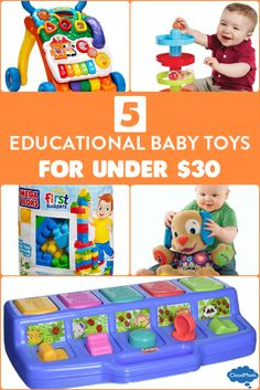 5 Educational Baby Toys for under $30
