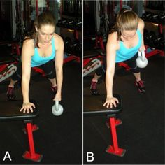 Renegade Row with #kettlebell: really gets the #abs too