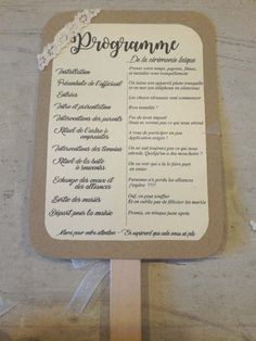 Programme éventail cérémonie laïque - 2 Wedding Planer, Maybe One Day, Marry Me, Wedding Table, Reception, Table Decorations, Personalized Items, Floral, Inspiration