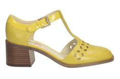 Pin for Later: You Can Now Shop The Clarks x Orla Kiely Spring Shoe Collection!  Bibi in yellow leather (£120)