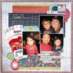 Angels Game - Scrapbook.com Image Layout, Craft Stickers, Field Notes, Project 4, American Crafts, Layouts, Angels, Scrapbook, Sport